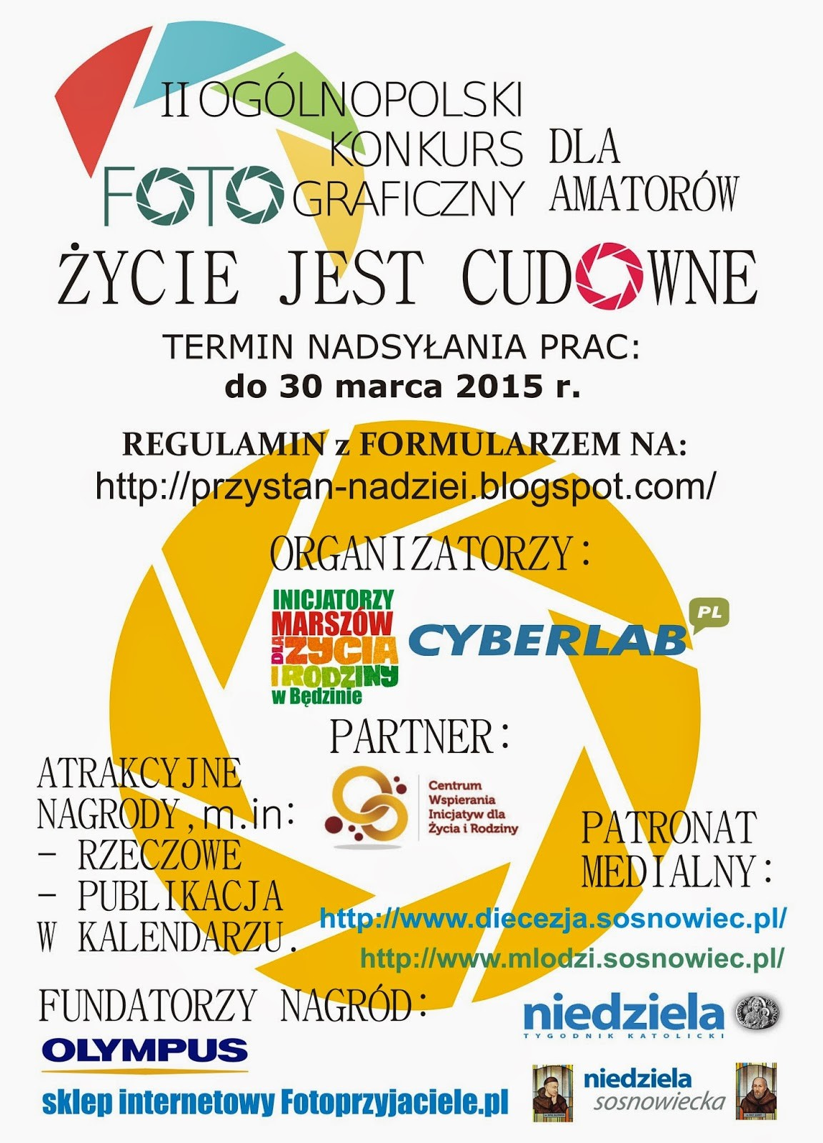 plakat II Ogolnopolski Konkurs Fotograficzny