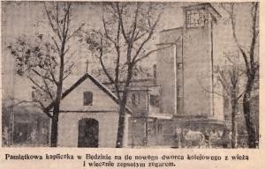 kapliczka przy dworcu PKP